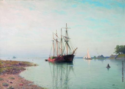 Лагорио Л. Ф. Корабль у берега