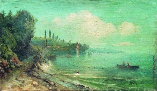 Лагорио Л. Ф. Летний пейзаж с рекой
