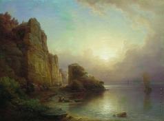 Лагорио Л. Ф. Лофотенский остров. Скалы у моря