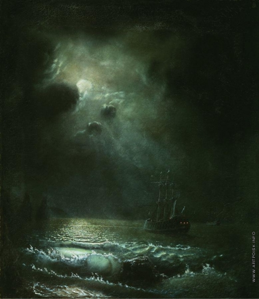 Лагорио Л. Ф. Луна над морем в Крыму