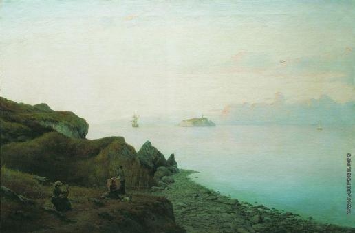 Лагорио Л. Ф. Морское побережье на этюдах