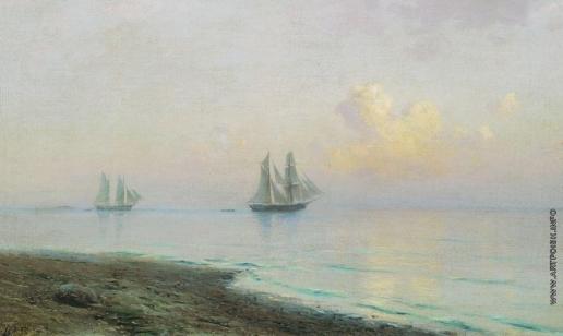 Лагорио Л. Ф. Морской пейзаж с парусниками
