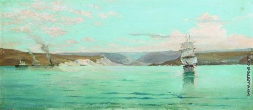 Лагорио Л. Ф. Морской пейзаж с парусником
