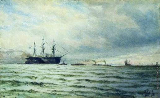 Лагорио Л. Ф. Морской пейзаж. Корабли
