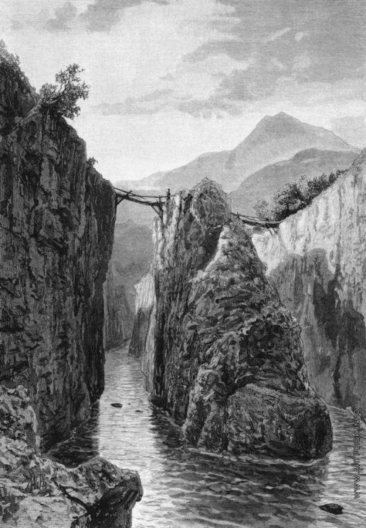 Лагорио Л. Ф. Мост на реке Белой, близ города Майкопа, на Кавказе