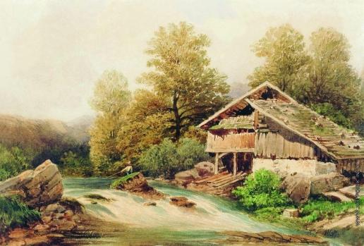 Лагорио Л. Ф. На берегу горной речки