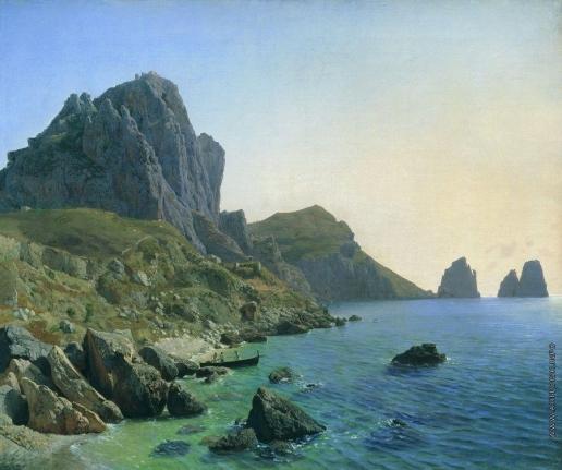 Лагорио Л. Ф. На острове Капри. Береговые утесы