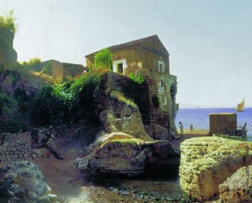 Лагорио Л. Ф. На острове Капри. Рыбацкий домик