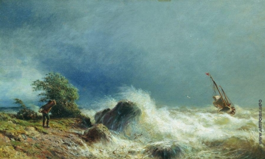 Лагорио Л. Ф. Одинокий корабль в бурю