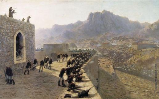 Лагорио Л. Ф. Отбитие штурма крепости Баязет 8 июня 1877 года
