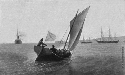Лагорио Л. Ф. Парусная лодка у Севастополя