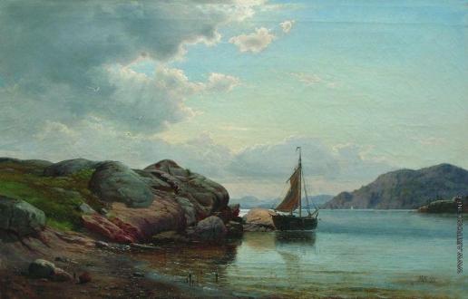Лагорио Л. Ф. Парусник в заливе