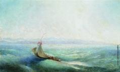 Лагорио Л. Ф. Парусник в море