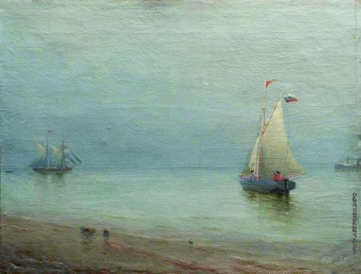 Лагорио Л. Ф. Парусник в порту
