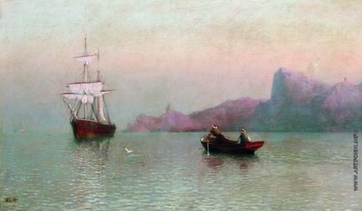 Лагорио Л. Ф. Парусное судно у моря