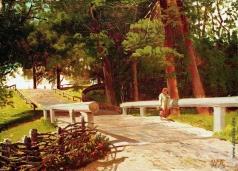 Лагорио Л. Ф. Пейзаж с мостиком