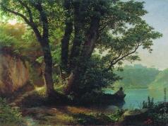 Лагорио Л. Ф. Пейзаж с озером
