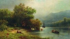 Лагорио Л. Ф. Пейзаж с рыбаками