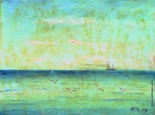 Лагорио Л. Ф. Пейзаж с чайками