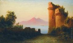 Лагорио Л. Ф. Старая крепость на фоне Везувия