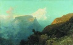 Лагорио Л. Ф. Туман в горах. Кавказ