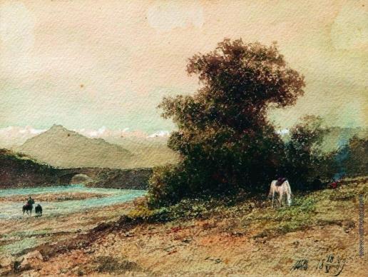 Лагорио Л. Ф. У горной реки