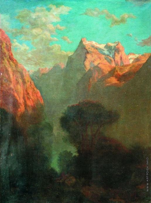 Лагорио Л. Ф. Ущелье в горах
