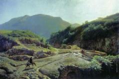 Лагорио Л. Ф. Фонтан Аннибала в Рокка-ди-Папа близ Рима. 1857-