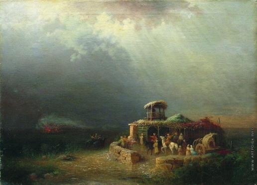 Лагорио Л. Ф. Черкесские воины в степи