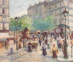 Лапшин Г. А. Улица в Париже