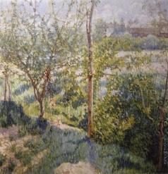 Ларионов М. Ф. Сад весной (Весенний пейзаж)
