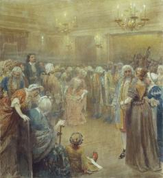 Лебедев К. В. Ассамблея при дворе Петра I