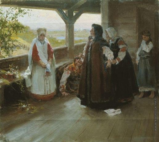 Лебедев К. В. Размолвка на террасе