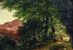 Лебедев М. И. Аллея в Альбано близ Рима