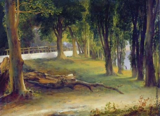 Лебедев М. И. Альбано. Белая стена