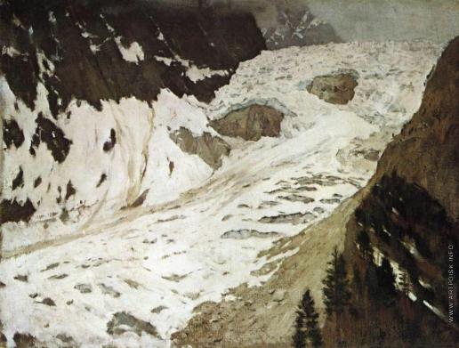 Левитан И. И. Альпы. Снега