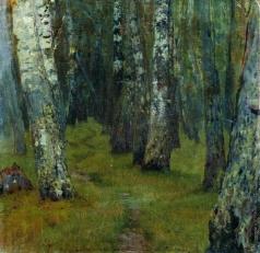 Левитан И. И. Березы. Опушка леса