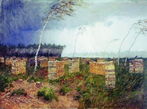 Левитан И. И. Буря. Дождь