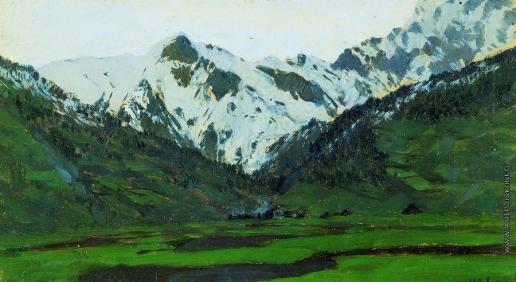 Левитан И. И. В Альпах весной