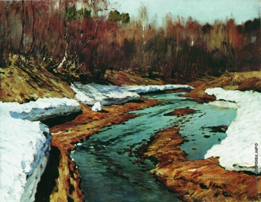 Левитан И. И. Весна. Последний снег