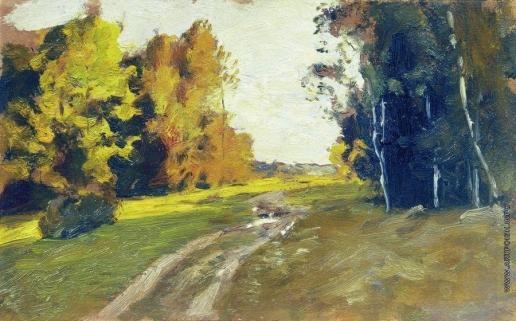 Левитан И. И. Вечер. Дорога в лесу