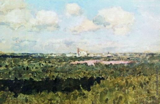 Левитан И. И. Вид на Новодевичий монастырь. 1898-