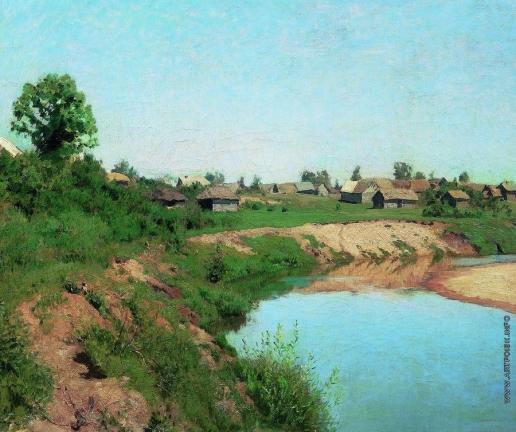 Левитан И. И. Деревня на берегу реки