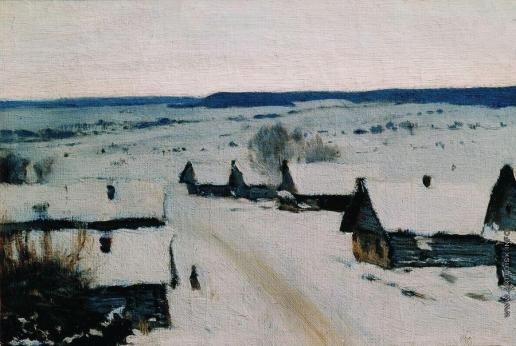 Левитан И. И. Деревня. Зима