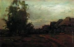 Левитан И. И. Деревня. Сумерки
