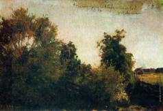 Левитан И. И. Деревья и кусты