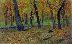 Левитан И. И. Дубовая роща. Осень