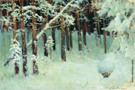 Левитан И. И. Лес зимой