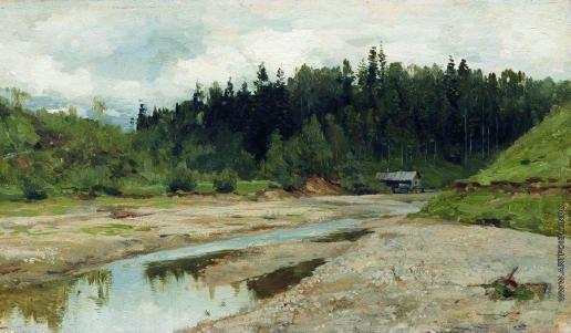 Левитан И. И. Лесная речка. 1886-