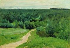 Левитан И. И. Лесные дали. 1880-